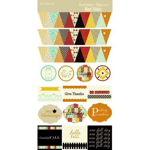 Lily Bee Design - Autumn Spice Collection - Cardstock Stickers