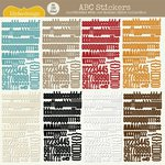 Lily Bee Design - Autumn Spice Collection - 12 x 12 Cardstock Stickers - Alphabet