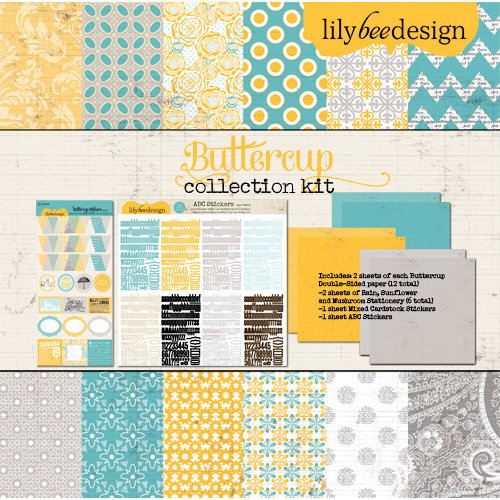 Lily Bee Design - Buttercup Collection - 12 x 12 Collection Kit