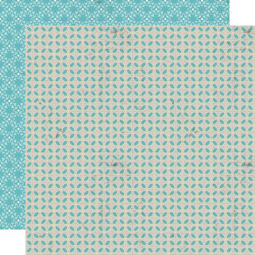 Lily Bee Design - Buttercup Collection - 12 x 12 Double Sided Paper - Robin's Egg