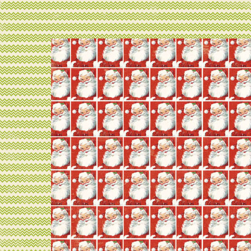 Lily Bee Design - Christmas Cheer Collection - 12 x 12 Double Sided Paper - Santa's Sleigh