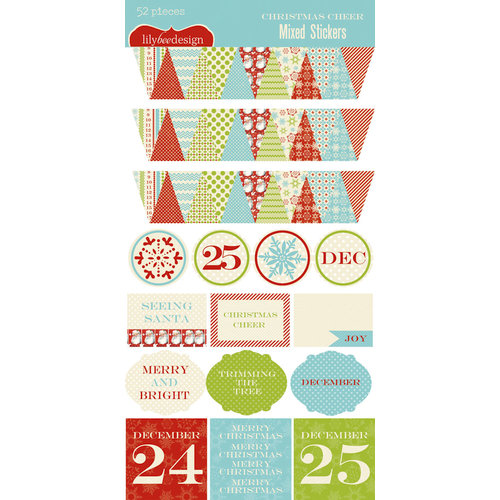 Lily Bee Design - Christmas Cheer Collection - Cardstock Stickers
