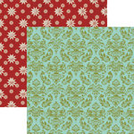 Lily Bee Design - Christmas Town Collection - 12 x 12 Double Sided Paper - Town Tree