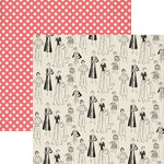 Lily Bee Design - Domestic Bliss Collection - 12 x 12 Double Sided Paper - Pearls and Heels