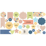 Lily Bee Design - Double Dutch Collection - Bag of Bits - Die Cut Cardstock Pieces