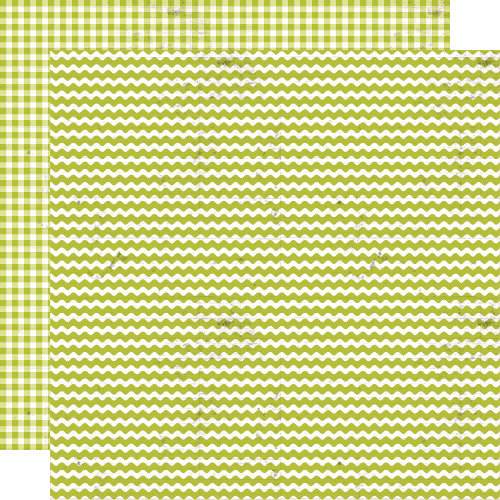 Lily Bee Design - Double Dutch Collection - 12 x 12 Double Sided Paper - Key Lime Pie
