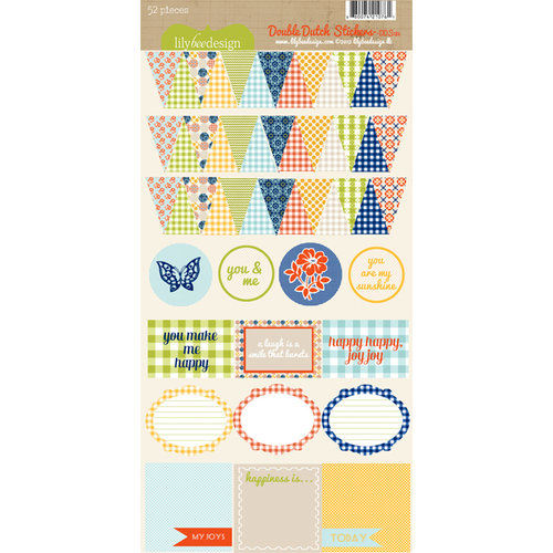Lily Bee Design - Double Dutch Collection - Cardstock Stickers