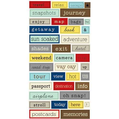Lily Bee Designs - Destination Collection - Cardstock Stickers - Chit Chat