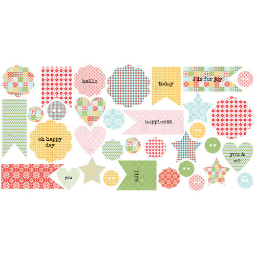 Lily Bee Design - Handmade Collection - Bag of Bits - Die Cut Cardstock Pieces