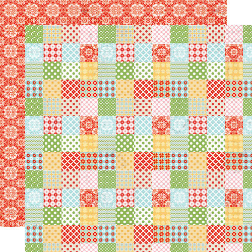 Lily Bee Design - Handmade Collection - 12 x 12 Double Sided Paper - Patchwork