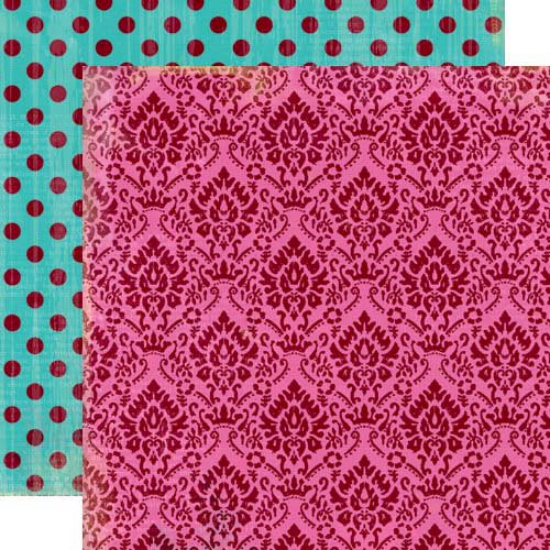 Lily Bee Design - Head Over Heels Collection - 12 x 12 Double Sided Paper - Flirt