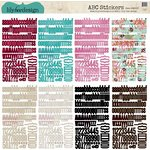 Lily Bee Design - Head Over Heels Collection - 12 x 12 Cardstock Stickers - Alphabet