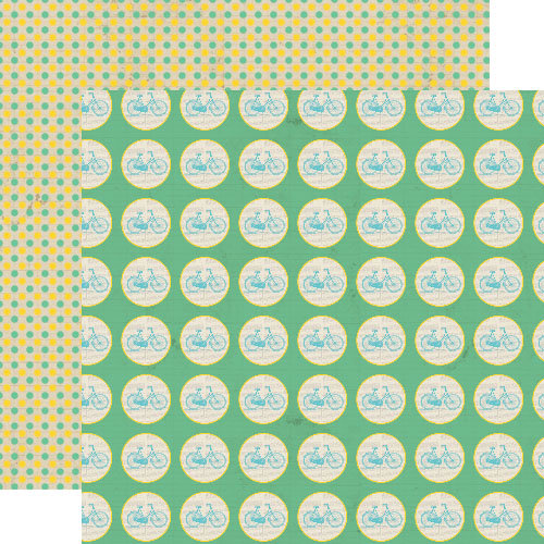 Lily Bee Design - Happily Lost Collection - 12 x 12 Double Sided Paper - Amazing Views