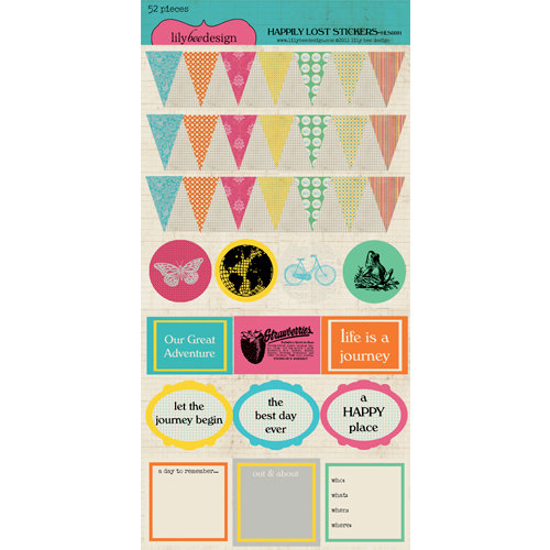 Lily Bee Design - Happily Lost Collection - Cardstock Stickers