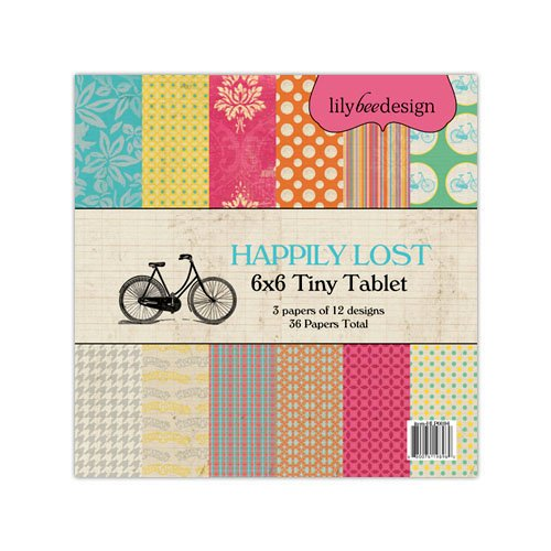 Lily Bee Design - Happily Lost Collection - Tiny Tablet - 6 x 6 Paper Pad