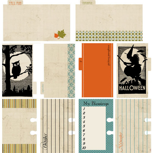 Lily Bee Design - Harvest Market Collection - Halloween - Journal Cards
