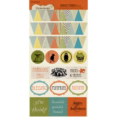 Lily Bee Design - Harvest Market Collection - Halloween - Cardstock Stickers