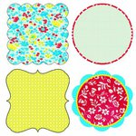 Lily Bee Design - Hello Sunshine Collection - 12 x 12 Die Cuts - Frames, CLEARANCE