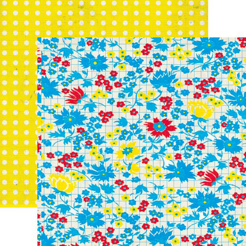 Lily Bee Design - Hello Sunshine Collection - 12 x 12 Double Sided Paper - Posies, CLEARANCE
