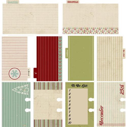 Lily Bee Design - Jingle Collection - Christmas - Journal Cards