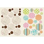 Lily Bee Design - Lovely Collection - Chipboard Stickers - Flowers and Buttons, CLEARANCE