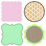 Lily Bee Design - Lovely Collection - 12 x 12 Die Cuts - Frames, CLEARANCE
