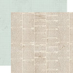 Lily Bee Design - Memorandum Collection - 12 x 12 Double Sided Paper - Whiteboard