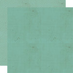 Lily Bee Design - Memorandum Collection - 12 x 12 Double Sided Paper - Office Blue