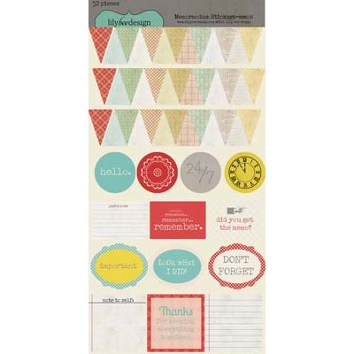 Lily Bee Design - Memorandum Collection - Cardstock Stickers