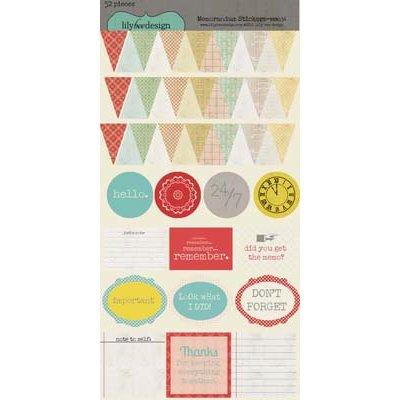 Lily Bee Design - Memorandum Collection - Cardstock Stickers