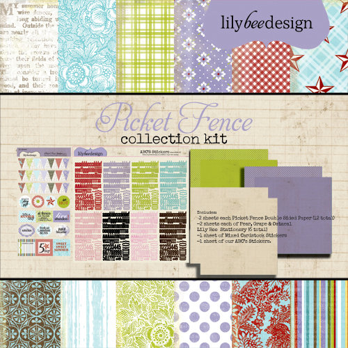 Lily Bee Design - Picket Fence Collection - 12 x 12 Collection Kit