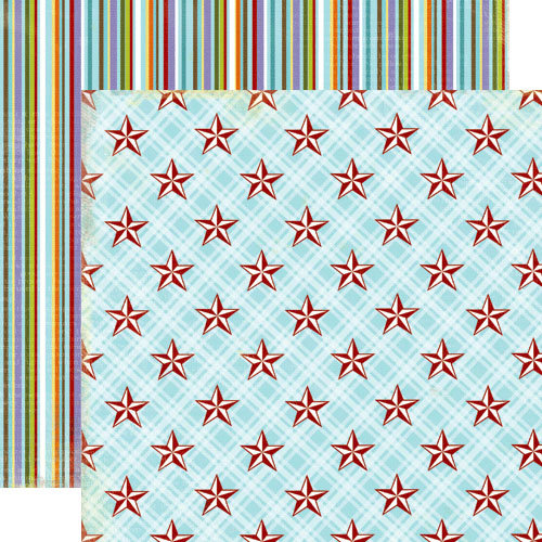 Lily Bee Design - Picket Fence Collection - 12 x 12 Double Sided Paper - Seize the Day