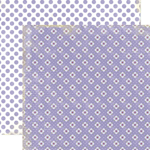 Lily Bee Design - Picket Fence Collection - 12 x 12 Double Sided Paper - Porch Swing