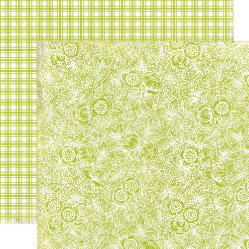 Lily Bee Design - Picket Fence Collection - 12 x 12 Double Sided Paper - Cottage Garden