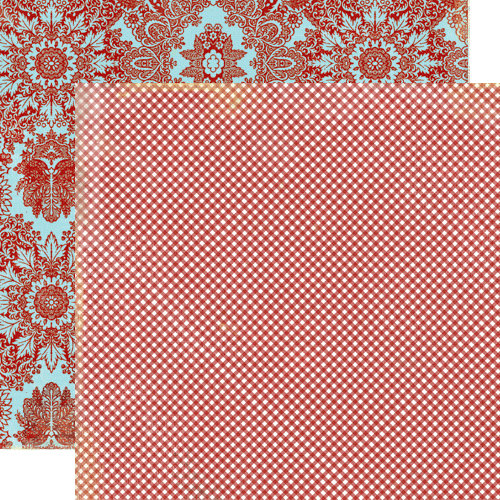 Lily Bee Design - Picket Fence Collection - 12 x 12 Double Sided Paper - Al Fresco