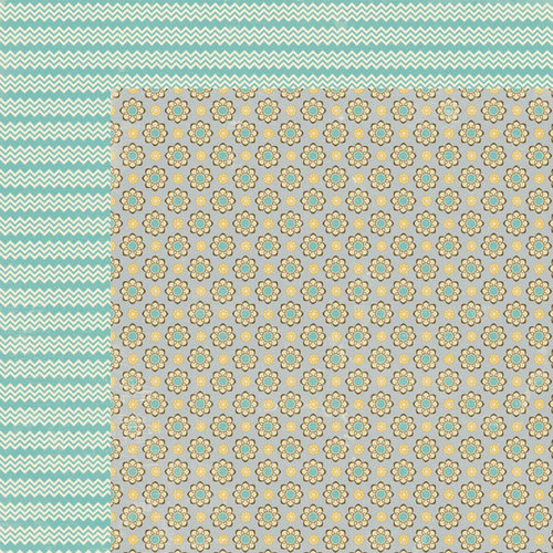 Lily Bee Design - Persnickety Collection - 12 x 12 Double Sided Paper - Prissy
