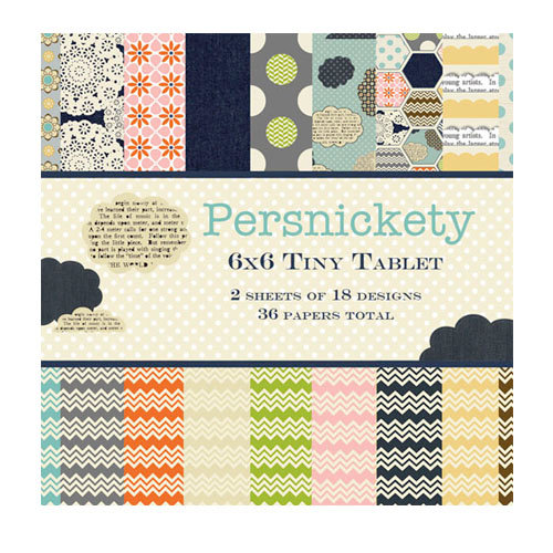 Lily Bee Design - Persnickety Collection - Tiny Tablet - 6 x 6 Paper Pad
