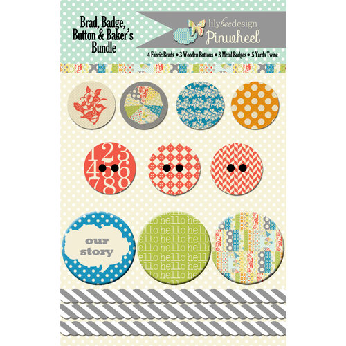 Lily Bee Designs - Pinwheel Collection - Embellishment Bundle
