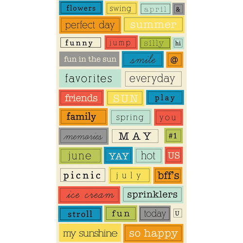Lily Bee Designs - Pinwheel Collection - Cardstock Stickers - Chit Chat