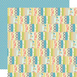 Lily Bee Designs - Pinwheel Collection - 12 x 12 Double Sided Paper - Picnic Basket