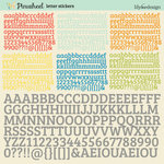 Pinwheel Collection - 12 x 12 Cardstock Stickers - Alphabet by Lily Bee Design