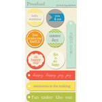 Lily Bee Designs - Pinwheel Collection - Cardstock Stickers - Circles and Tags