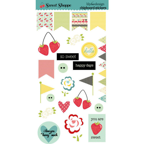 Lily Bee Design - Sweet Shoppe Collection - Chipboard Stickers