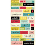 Sweet Shoppe Collection - Cardstock Stickers - Chit Chat by Lily Bee Design