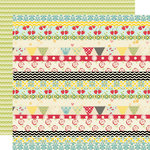 Lily Bee Design - Sweet Shoppe Collection - 12 x 12 Double Sided Paper - Lollipop