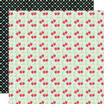 Lily Bee Design - Sweet Shoppe Collection - 12 x 12 Double Sided Paper - Strawberries and Cream