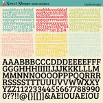 Sweet Shoppe Collection - 12 x 12 Cardstock Stickers - Alphabet by Lily Bee Design