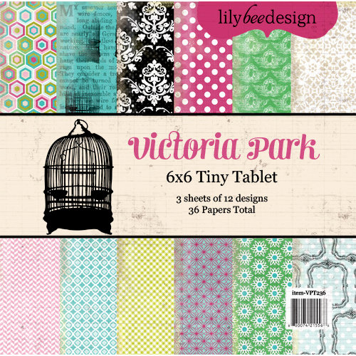 Lily Bee Design - Victoria Park Collection - Tiny Tablet - 6 x 6 Paper Pad