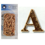 Lil Davis Designs - Vintage Wood Alphabet - Upper Case - Chocolate Chip, CLEARANCE