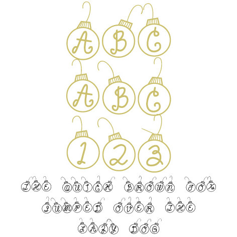 Fonts - Lettering Delights - Christmas Balls (Windows)
